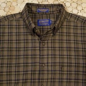 Pendleton Plaid Wool Shirt - Large/Long - like new